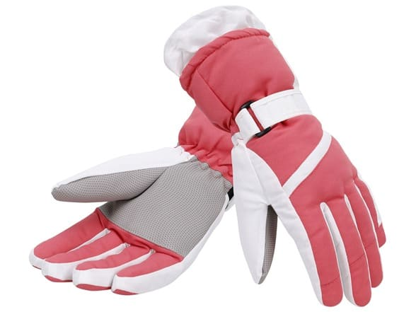 Simplicity Women's Waterproof Ski Gloves (S, M, L, Various Colors) $8 + Free Shipping w/ Prime
