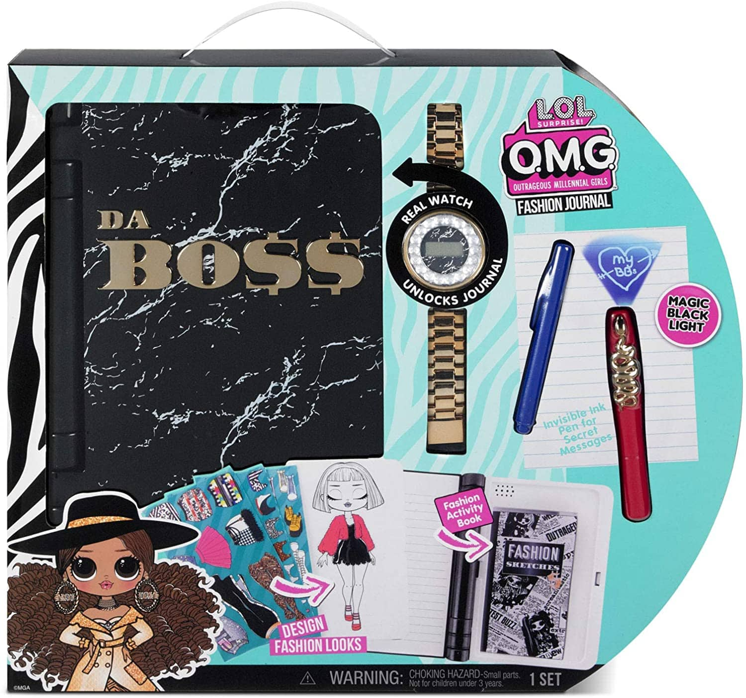 LOL Surprise Kid's OMG Electronic Password Fashion Journal Set $13.16 + Free Shipping w/ Prime or on $25+