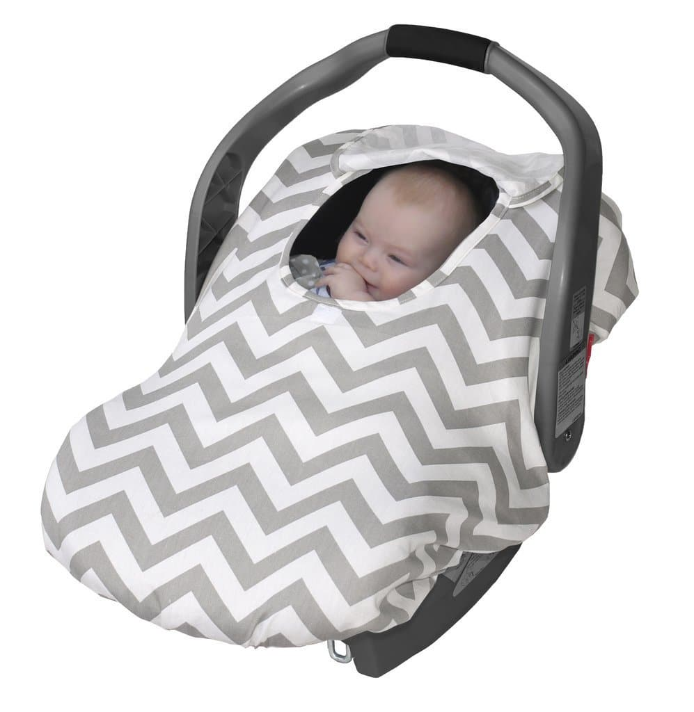 Jolly Jumper Arctic Sneak-A-Peek Infant Car Seat Cover w/ Attached Blanket (Gray Chevron) $15.74 + Free Shipping w/ Prime