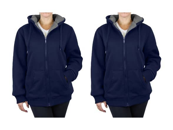 2-Pack Women's Loose Fit Sherpa Lined Hoodie (Navy, M-2XL) $24 + Free Shipping w'/ Prime