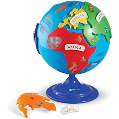 14-Piece Learning Resources Kid's 3-D Geography Puzzle Globe $17 + Free Shipping w/ Prime or on $25+