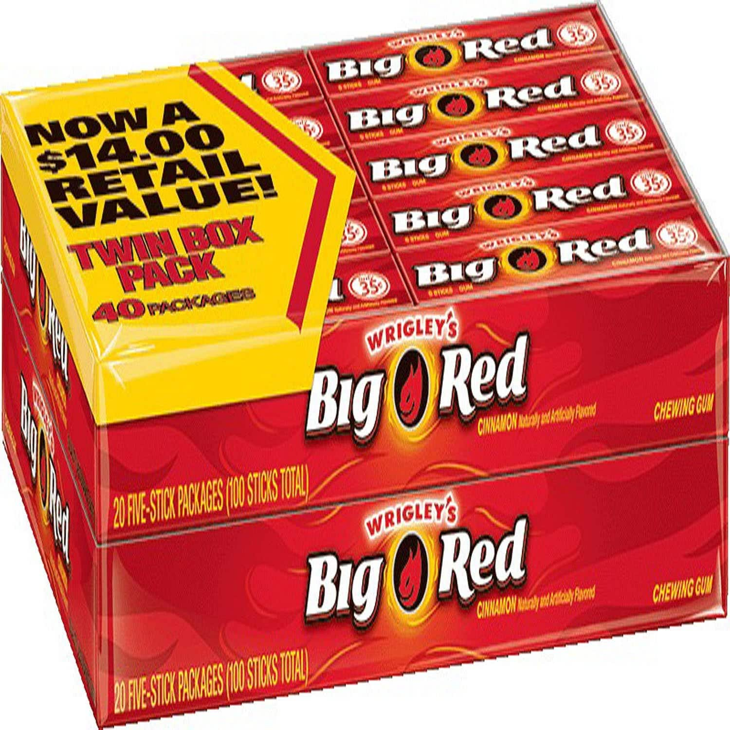 40-Pack Wrigleys Big Red Cinnamon Chewing Gum $7 + Free Shipping w/ Prime