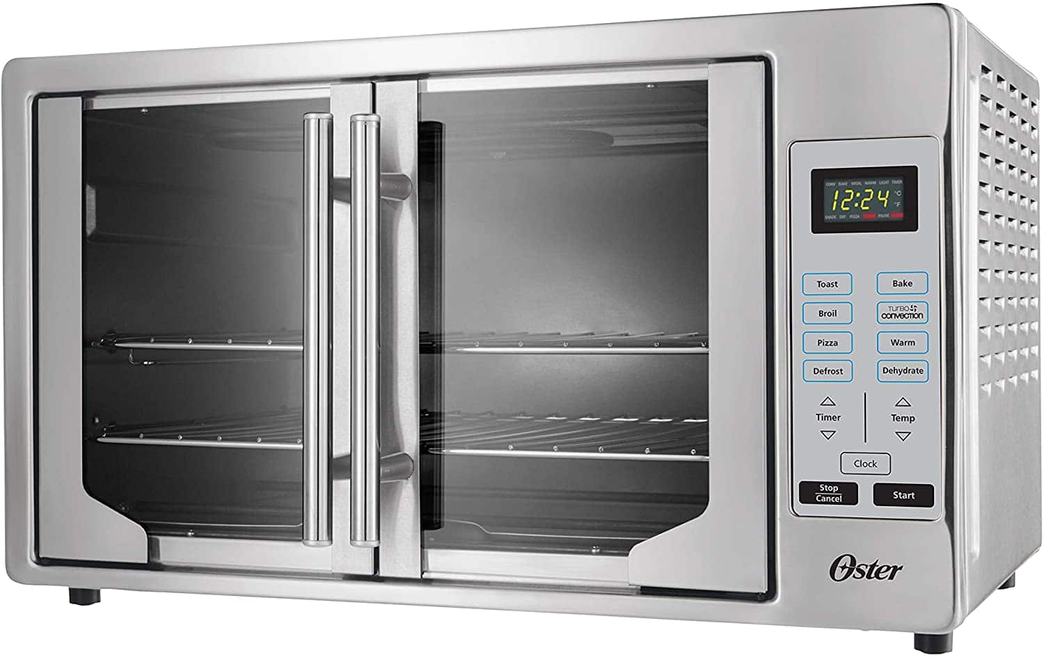 Oster French Convection Countertop and Toaster Oven | Single Door Pull and Digital Controls | Stainless Steel, Extra Large $111.99+F/S