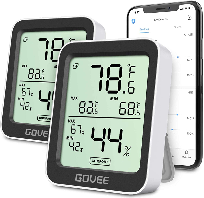 Govee Temperature Humidity Monitor 2 Pack $19.99 + f/s @Amazon