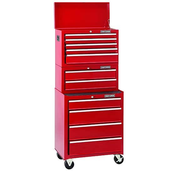 Craftsman 11-Drawer 3-PC Standard Duty Ball-Bearing Combo Tool Chest $219.97