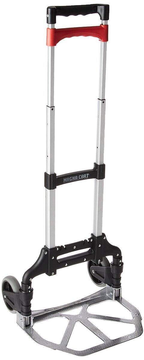Magna Cart Personal 150 lb Capacity Aluminum Folding Hand Truck (Black/Red) $29.99 + fs