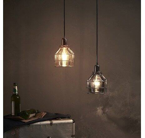 Versanora Bellezza Metal Mini Pendant Lamp with Cage, Chrome $24.99