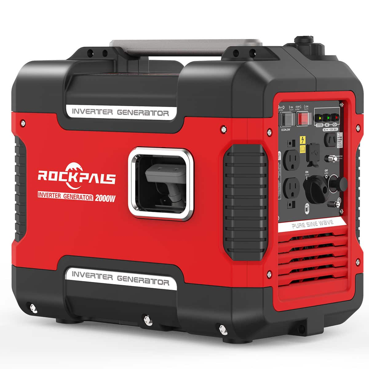 Rockpals 2000Watt Portable Generator Super Quiet Inverter Generator With 9 Hours Run time, with Eco-Mode Generator For Emergency /Home / Travel $299.99+FS