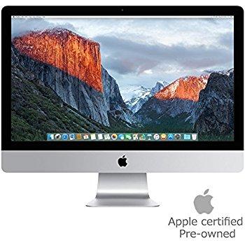 """Apple MK452LL/A iMac 21.5"""" AIO Desktop, 4K Retina Display, Intel Core i5-5675R Quad-Core 3.1GHz, 1TB SATA, macOS 10.11 El Capitan (Certified Refurbished) $900"""