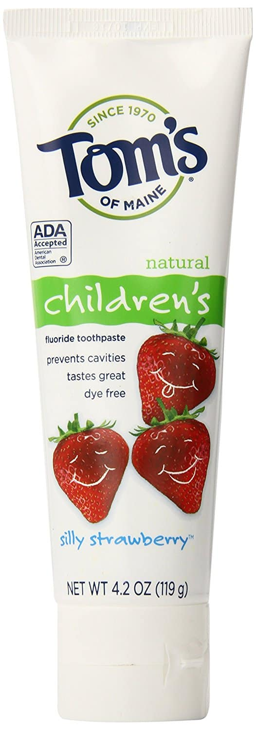 Tom's of Maine Anticavity Fluoride Children's Toothpaste, Silly Strawberry, 4.2 Ounce, 3 Count S&S $7.64 or better