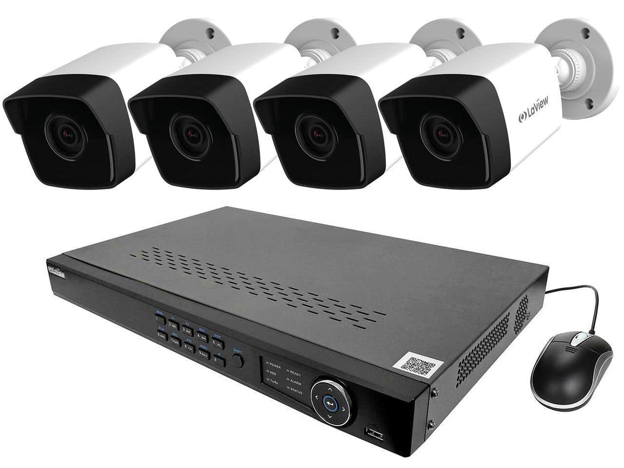 Laview Nvr Poe 8 Channel Security System W 4x Cameras