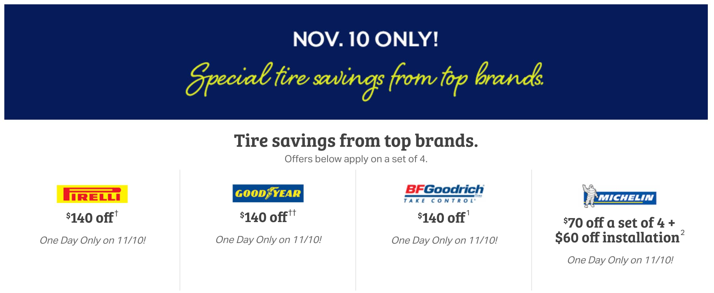 Free Tire Installation 60 Value Sams Club November 10th Only