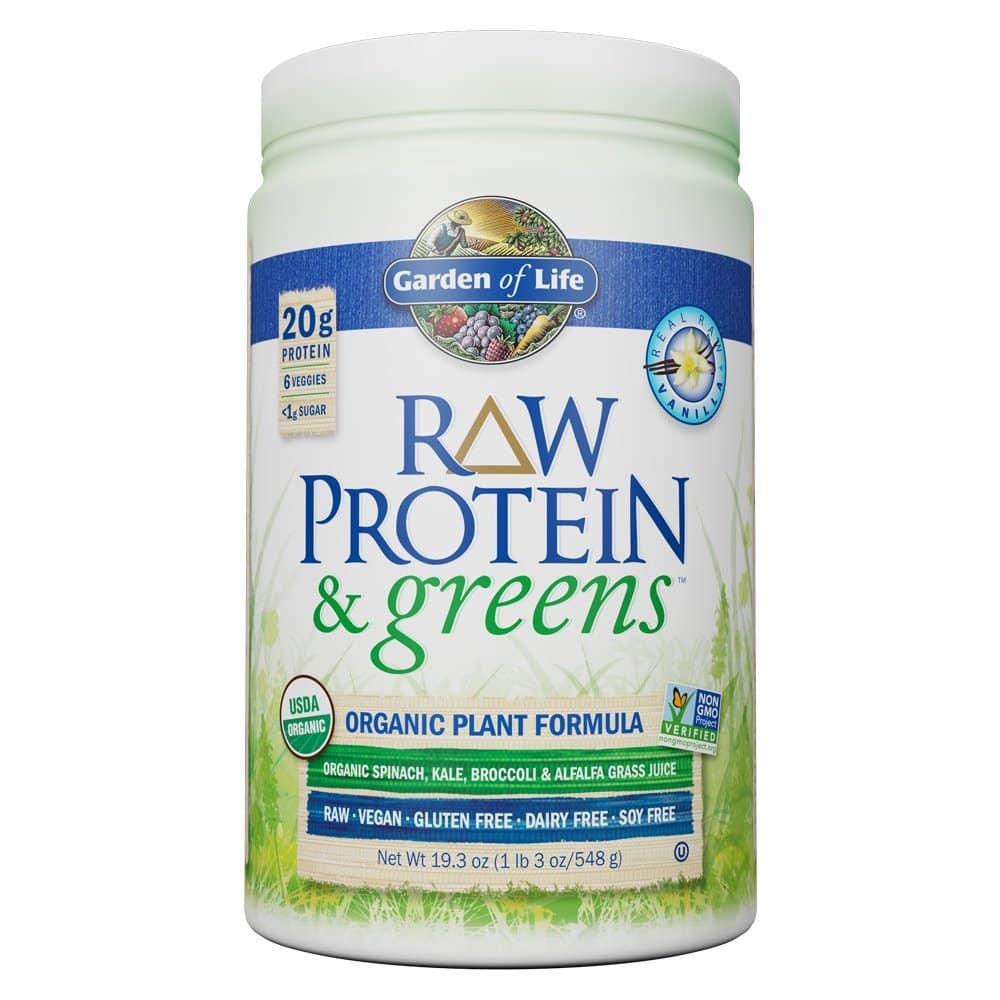Garden Of Life Greens And Protein Powder, Vanilla 19.3 Oz (20 Servings)