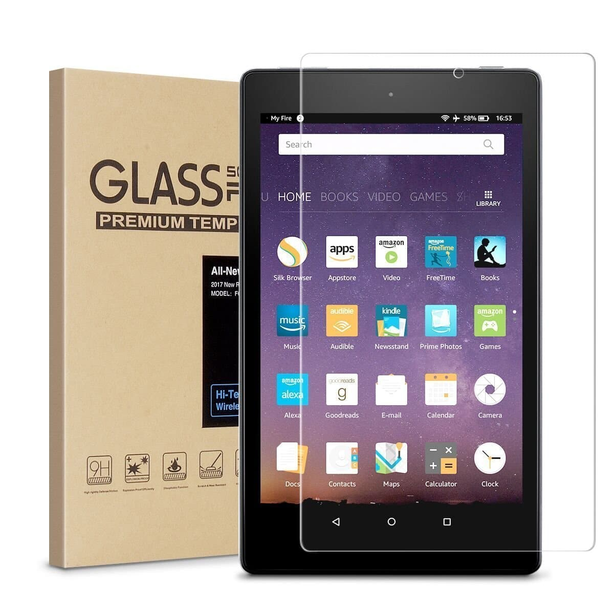 Amazon Fire HD 8 and HD 10 Tempered Glass Screen Protectors - Prime Eligible or FSSS