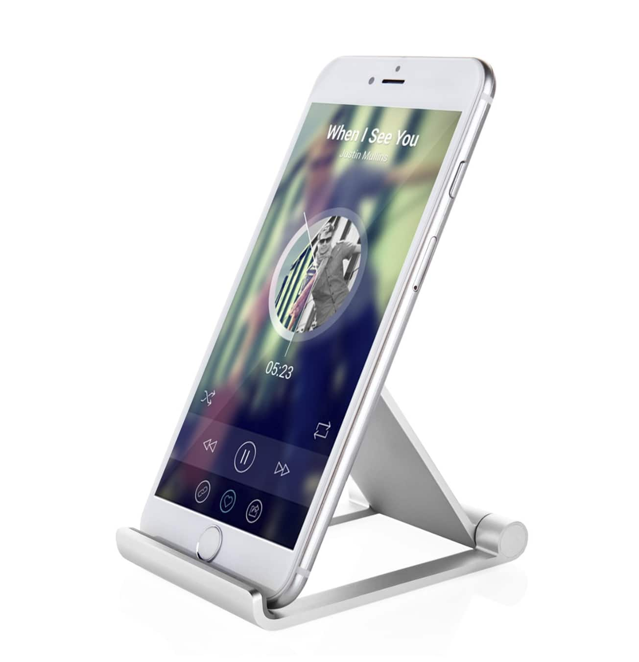 Aluminum Multi-angle Folding Cell Phone Stand, Tablets Stand $5.84