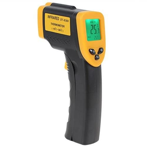 Infrared Thermometer, Magicoo Digital Non-contact Instant Read Temperature Gun -58°F ~ 716°F(-50℃~380℃) Emissivity 0.1-1.0, Laser Point IR Thermometer with LED Backlight $10.87