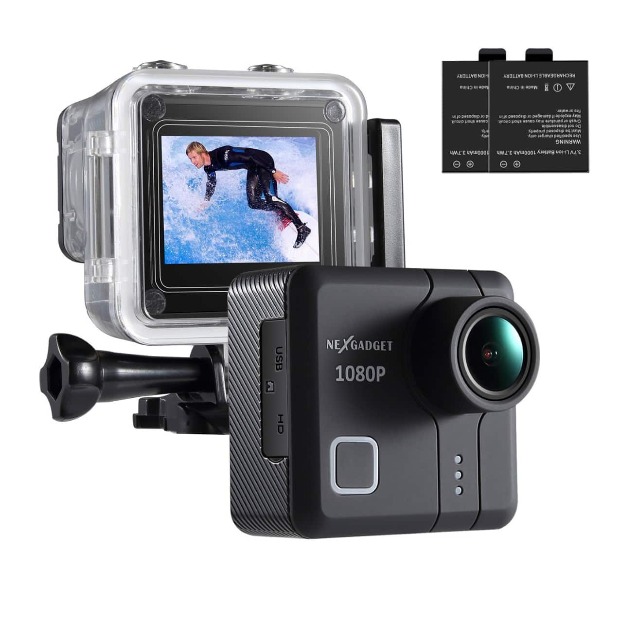 1080P 14MP Waterproof Action Camera $22.99 + 2 batteries $22.99 AC FS w/Amazon Prime