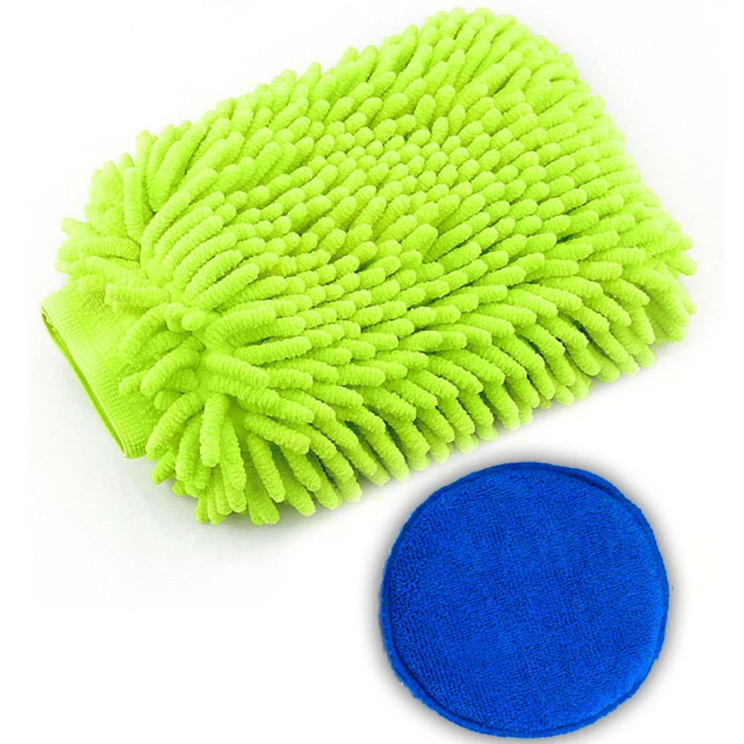 Waterproof Car Wash Mittt and Wax Applicator Kit-2 Pack for $5.97 AC @Amazon