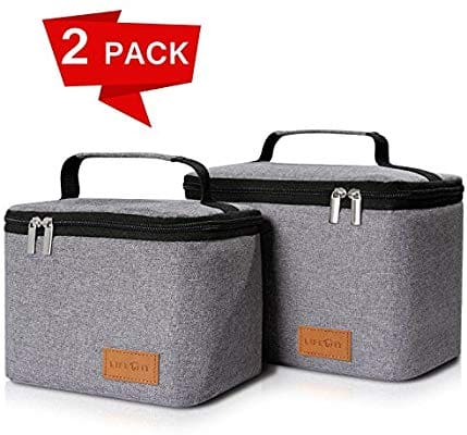 Insulated Box Lunch, 2 pack Thermal Bento Bag Grey $13.59 AC Amazon