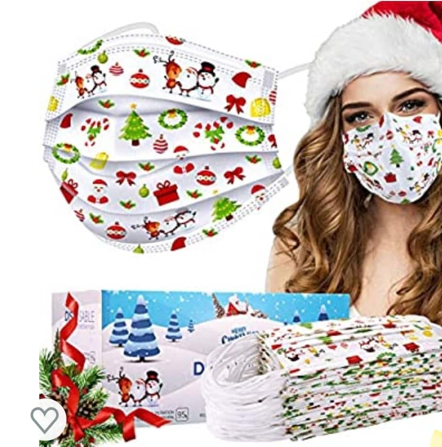 50% off 50-Pack Christmas Disposable Mask for Adult and Kids $7.99 Amazon