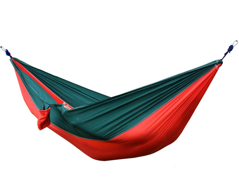 Double Camping Parachute Nylon Hammock with Tree Straps $11.49 @Amazon