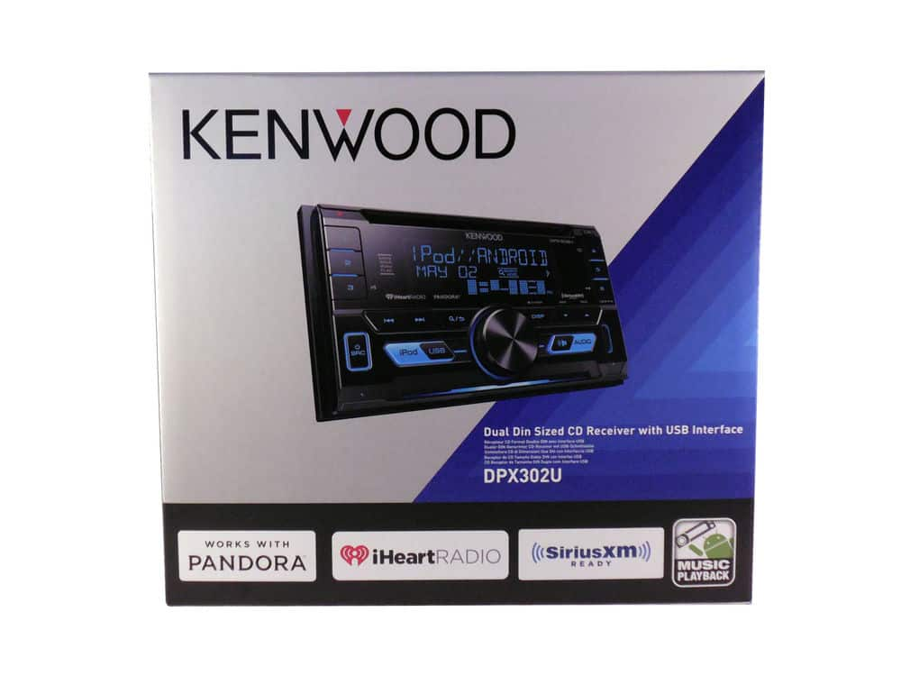 Kenwood Car Stereo 2-DIN CD Receiver with Front USB & Aux Inputs, DPX302U NEW $97.36