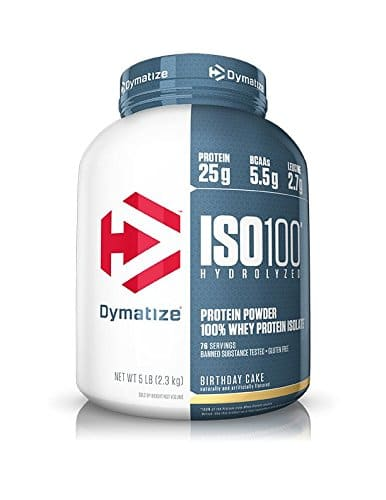 Dymatize Nutrition ISO 100 Whey Protein Powder Gourmet Vanilla OR Birthday Cake
