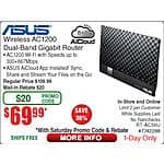 Asus RT-AC56U Dual-Band Wireless AC1200 Gigabit Router - $69.99 AC/AR + FS @Frys (In-Store/Online)