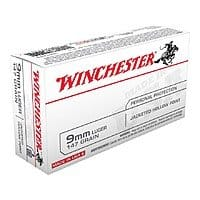AMMO- Winchester white box 9mm  147 JHP (hollow point) $  19/50($  .39)rounds @Cabelas $  5 shipping for orders orders over $  99 with promo 56TENTS