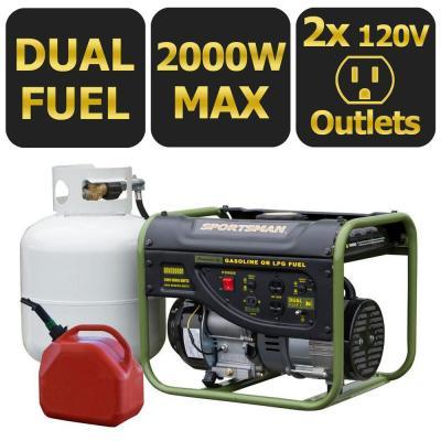 Home Depot Sportsman generators dual fuel 2000 w $200, dual fuel 4000 watt $300,dual fuel 7500 watt $600, 4000w $240, 2000 w $150 and more free shipping 7-30-17 only