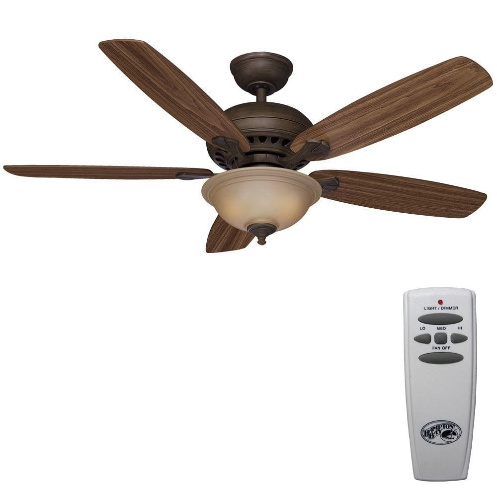 Home Depot Hampton Bay Southwind 52 In Venetian Bronze Ceiling Fan With Remote 77 And
