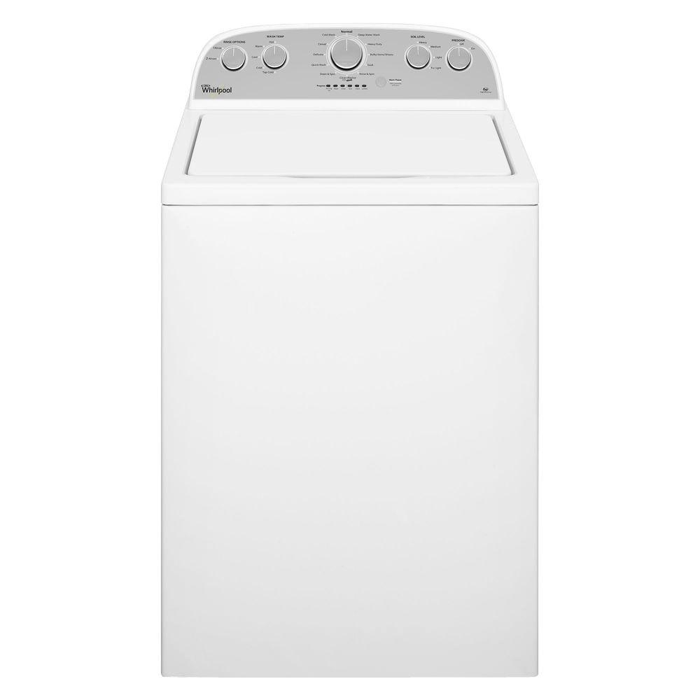 Home Depot Whirlpool 3.7 cu. ft. High-Efficiency Top Load Washer in White $330 and more free shipping 8-11-2017 only