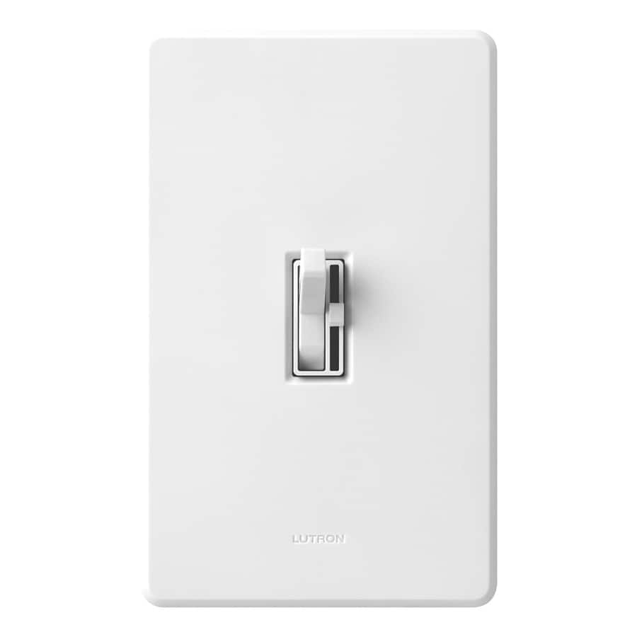 Lutron Toggler 1000-Watt Single Pole White Toggle Indoor Dimmer ...