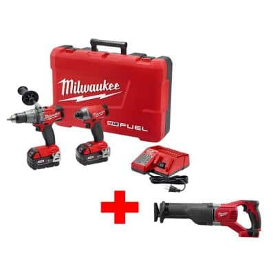 Home Depot Milwaukee M18 FUEL 18-Volt Cordless Lithium-Ion Brushless Hammer Drill/Impact Combo Kit a. with Free M18 Sawzall , b. with 6.5 in saw, or c. with m18 vacuum $330 Free Sh