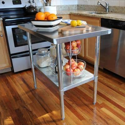 """Home Depot Sportsman Stainless Steel Kitchen Utility Table (49""""L x 24""""W X 35"""" H) $99 & more Free Shipping 10-15-17 only"""