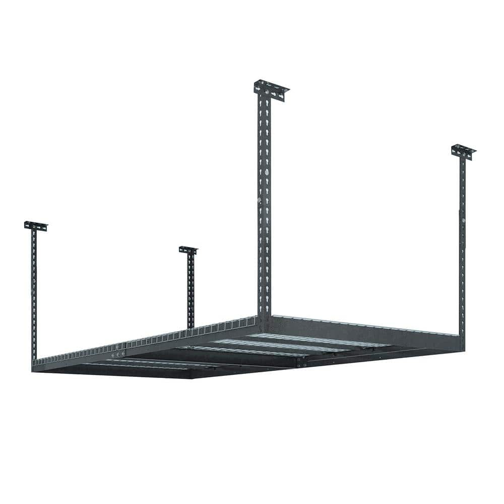 Home Depot  NewAge Products Performance 96 in. L x 48 in. W x 42 in. H Adjustable VersaRac Ceiling Storage Rack in Gray/white $119 Free Shipping 10-24-17 only