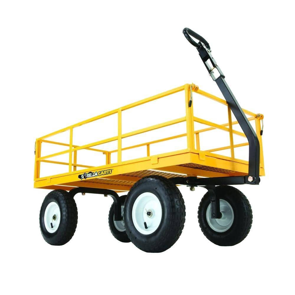 Home Depot Gorilla carts 1000 lb poly dump $112,  Steel 1200 lb $120 free shipping 10-25-17 only + use the home depot coupon THDOCTFY1710  for $10 more off