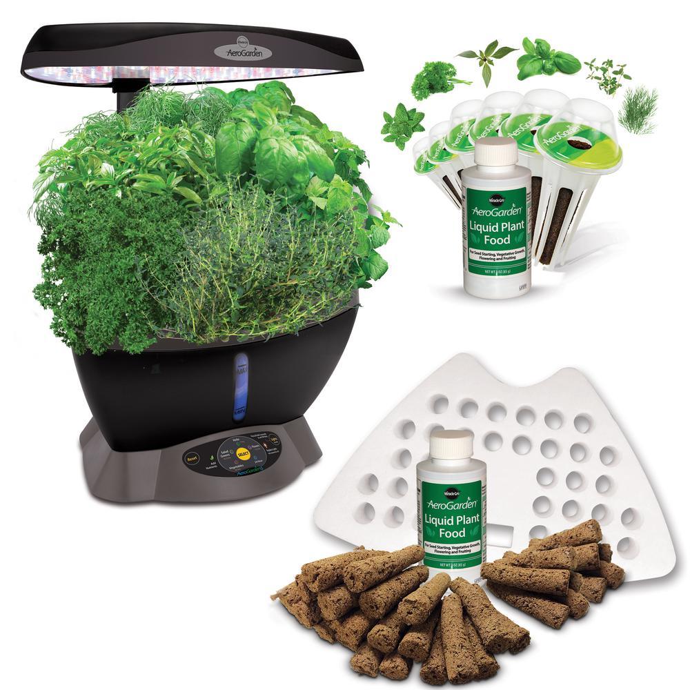 Home Depot  Miracle-Gro AeroGarden Classic 6 Smart Garden plus BONUS Seed Starting System $100, AeroGarden Extra $120 & more Free Shipping 11-10-17 only