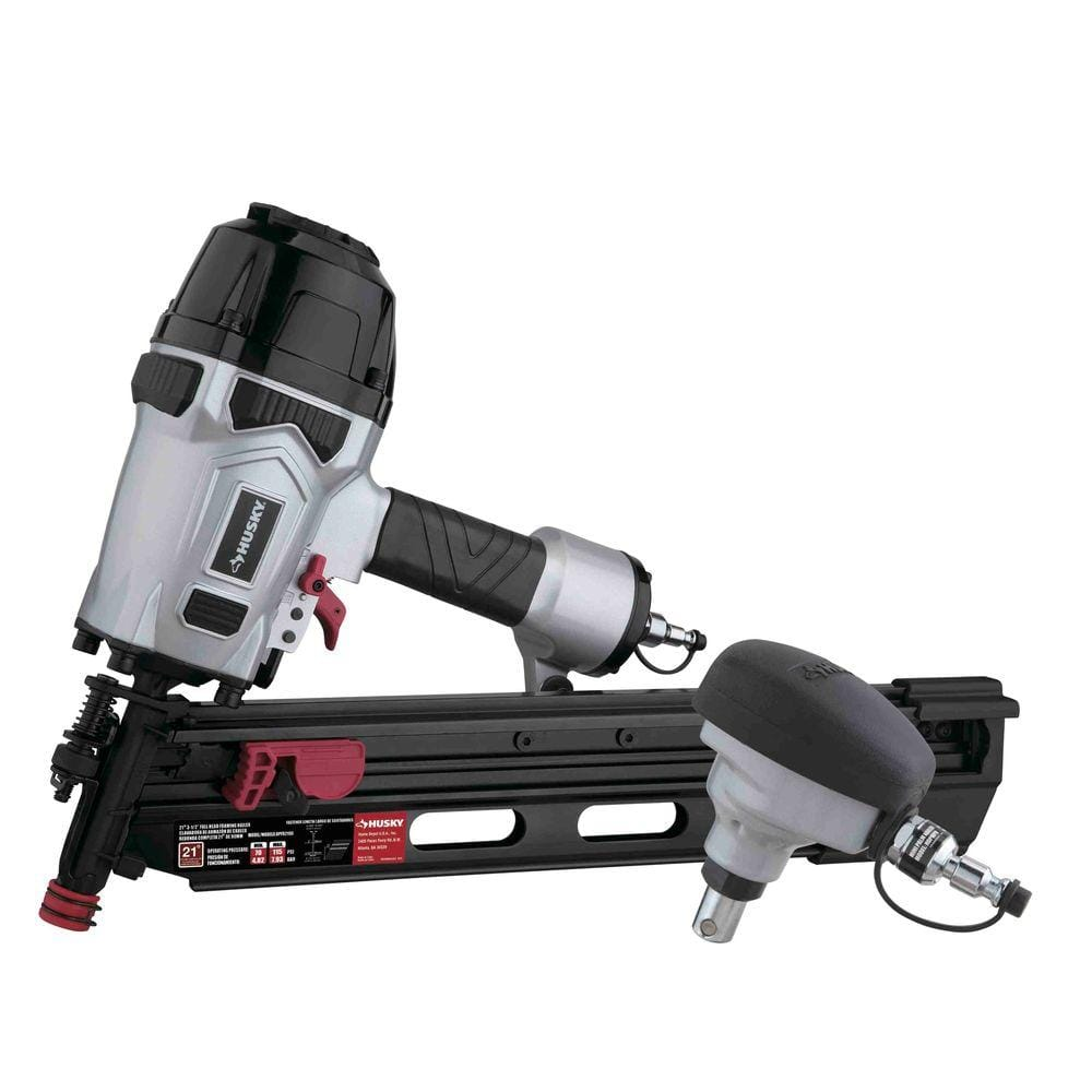 Home Depot Nailers and Compressors ex Ryobi 18-Volt ONE+ AirStrike 16-Gauge Cordless Straight Finish Nailer Kit $199 & more Free Shipping 12-1-17 only