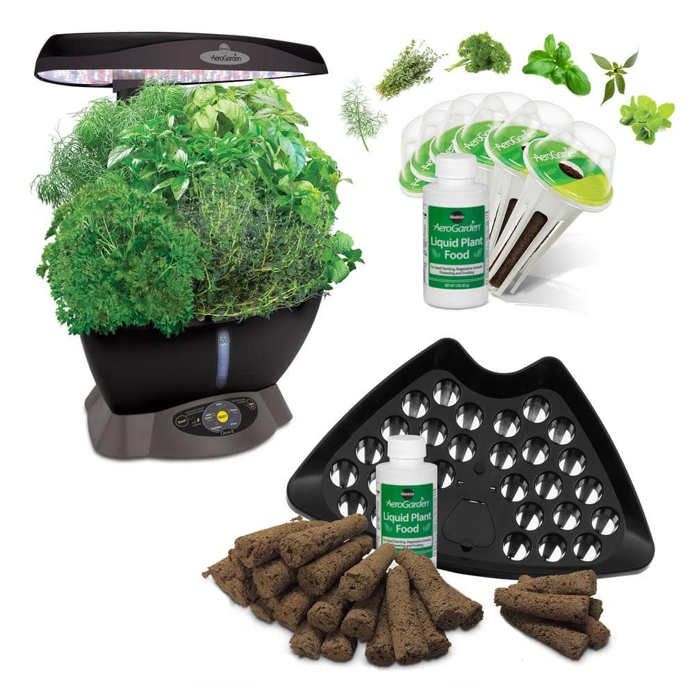 Miracle-Gro AeroGarden Classic 6 Smart Garden plus BONUS Seed Starting System $80 & more Free shipping 12-13-17 only