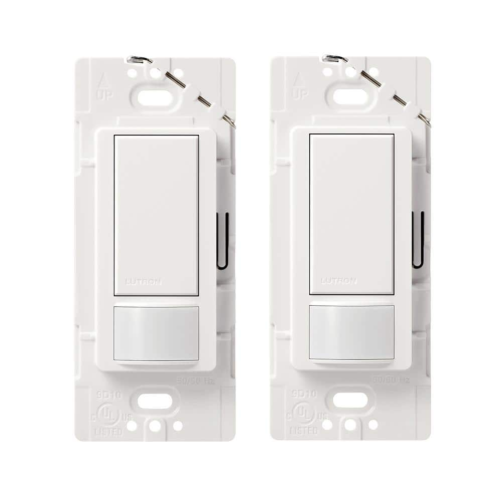 Home Depot Lutron switches deals ex. Lutron Maestro Motion Sensor switch, 2-Amp, Single-Pole, White (2-Pack) $30, Diva (2 pack) $30 Free Shipping 12-27-17 only