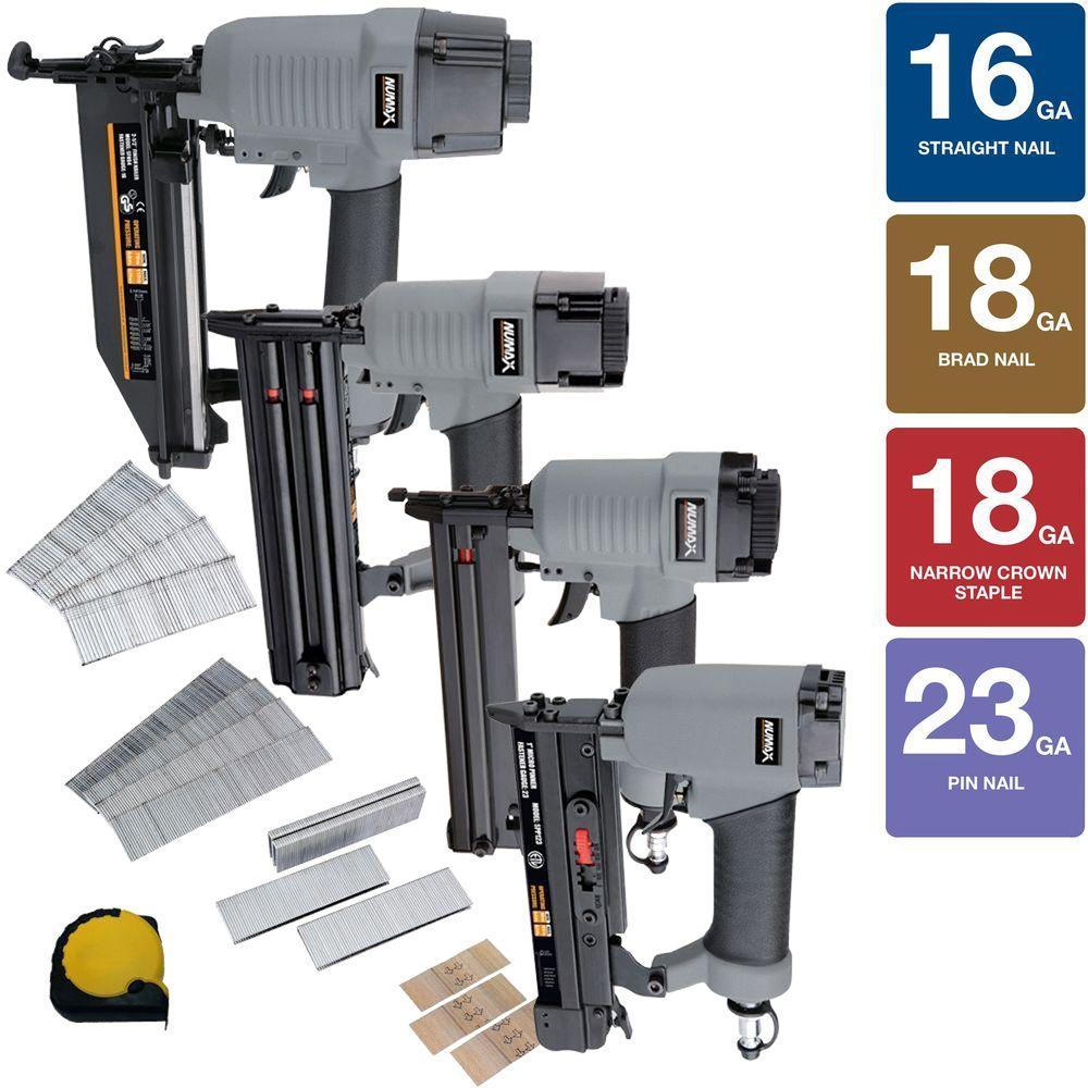 Home Depot Nailer & compressor deals ex.NuMax Standard Finish Kit (4-Piece) $110 Free Shipping 1-10-18 only