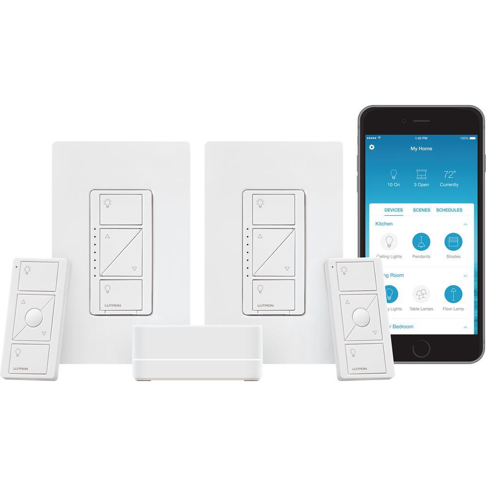 Lutron Caseta Wireless Smart Lighting Dimmer Switch 2Ct Starter