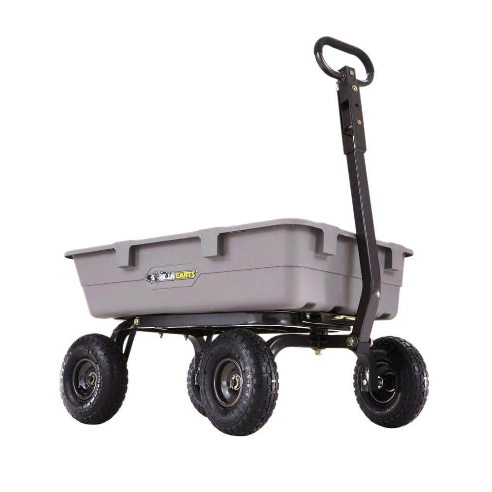 Home Depot Gorillia carts & storage deals: ex.  800 lb. Poly Dump Cart $55 Free Shipping 2-20-18 only