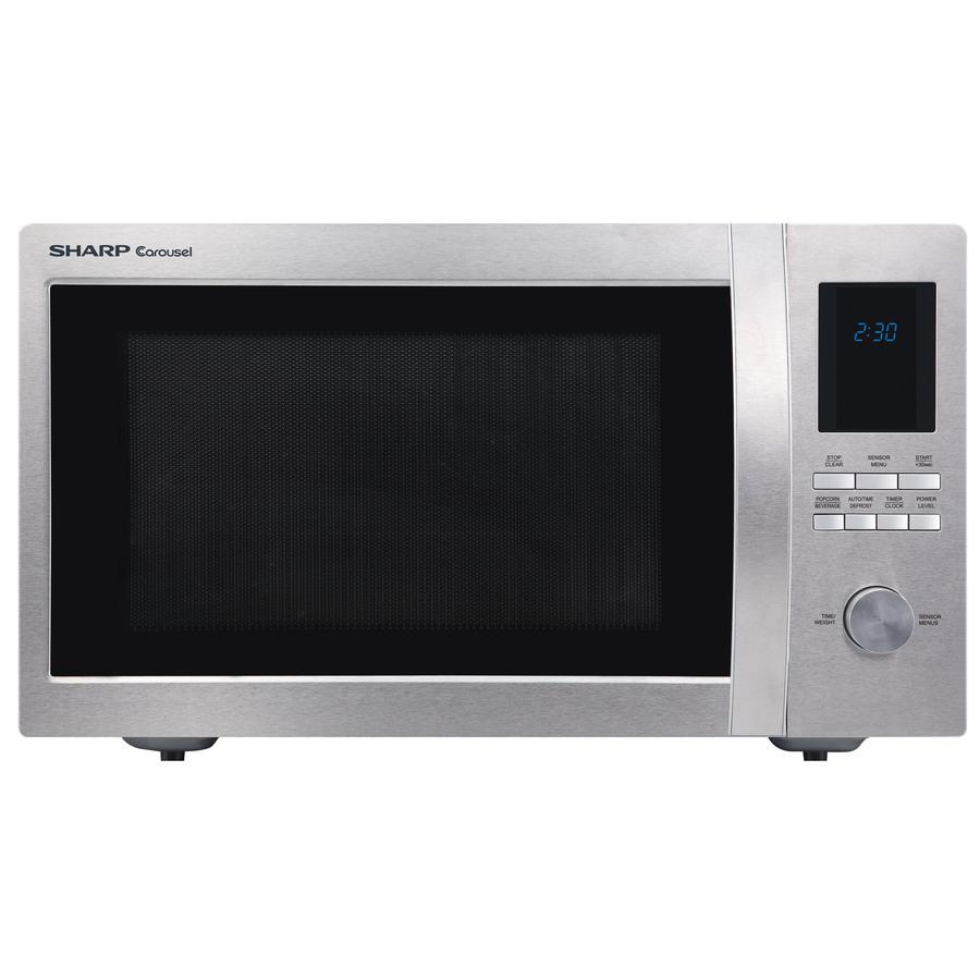 Lowes Sharp 1 6 Cu Ft 1 100 Watt Countertop Microwave