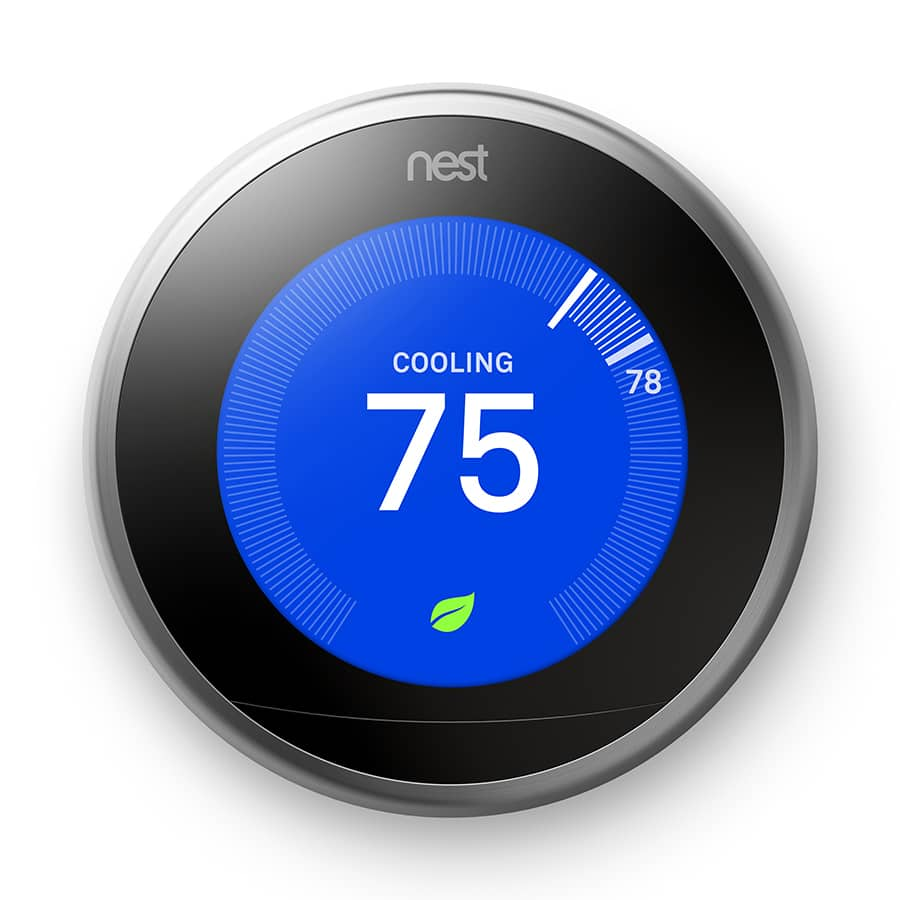 Lowes Nest Stainless Steel Learning- 3rd Generation Thermostat with ...