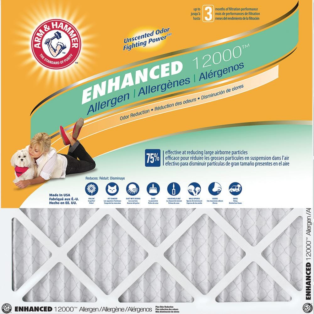 Home Depot Arm & Hammer  20 in. x 25 in. x 1 in. (16 sizes) Enhanced Allergen and Odor Control FPR 6 Air Filter (4-Pack) $20 Free Shipping 3-15-18 only