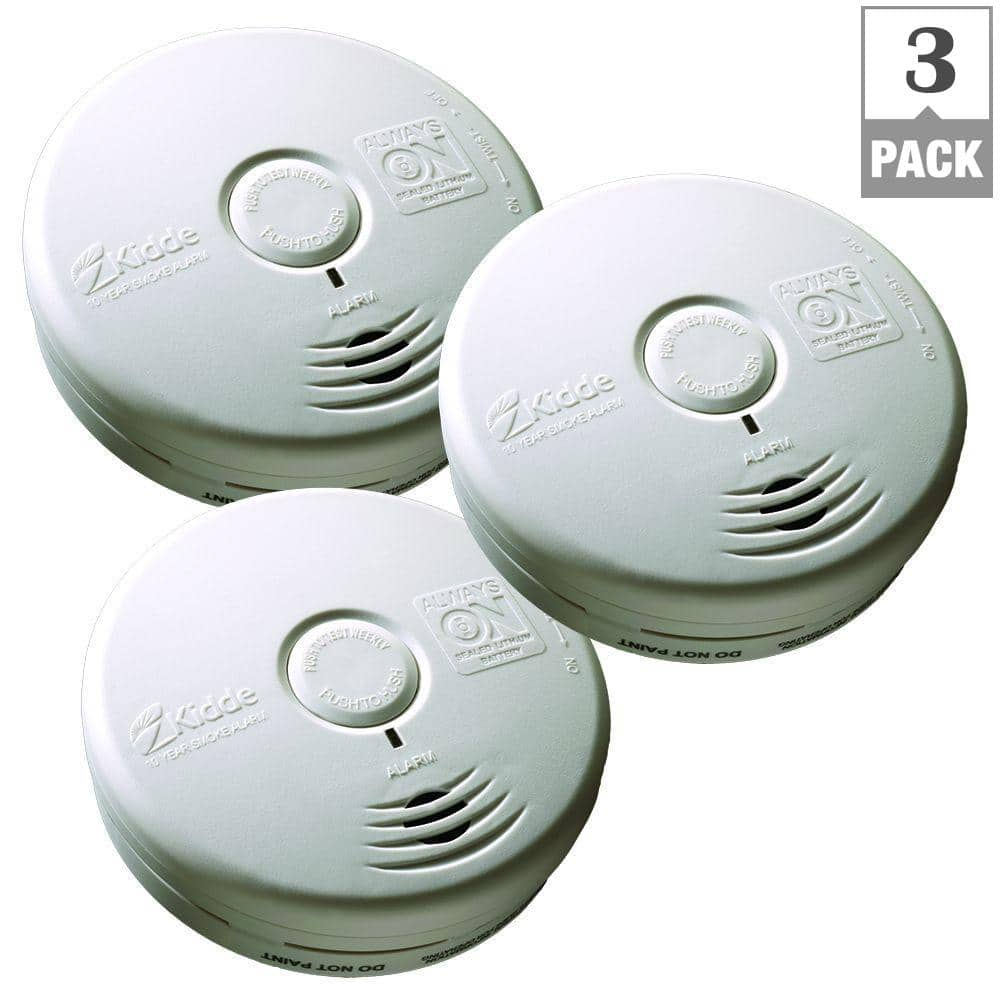Home Depot Smoke Alarms Ex Kidde 10 Year Worry Free Battery