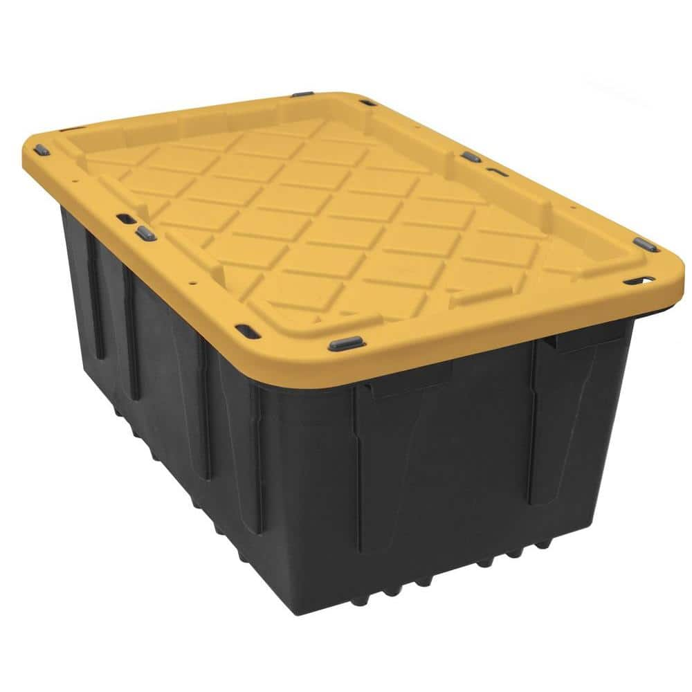 Home Depot HDX 17 Gal. Storage Tote in Black $6.50 (usually non sale price $9) in store only  5-20-18 only