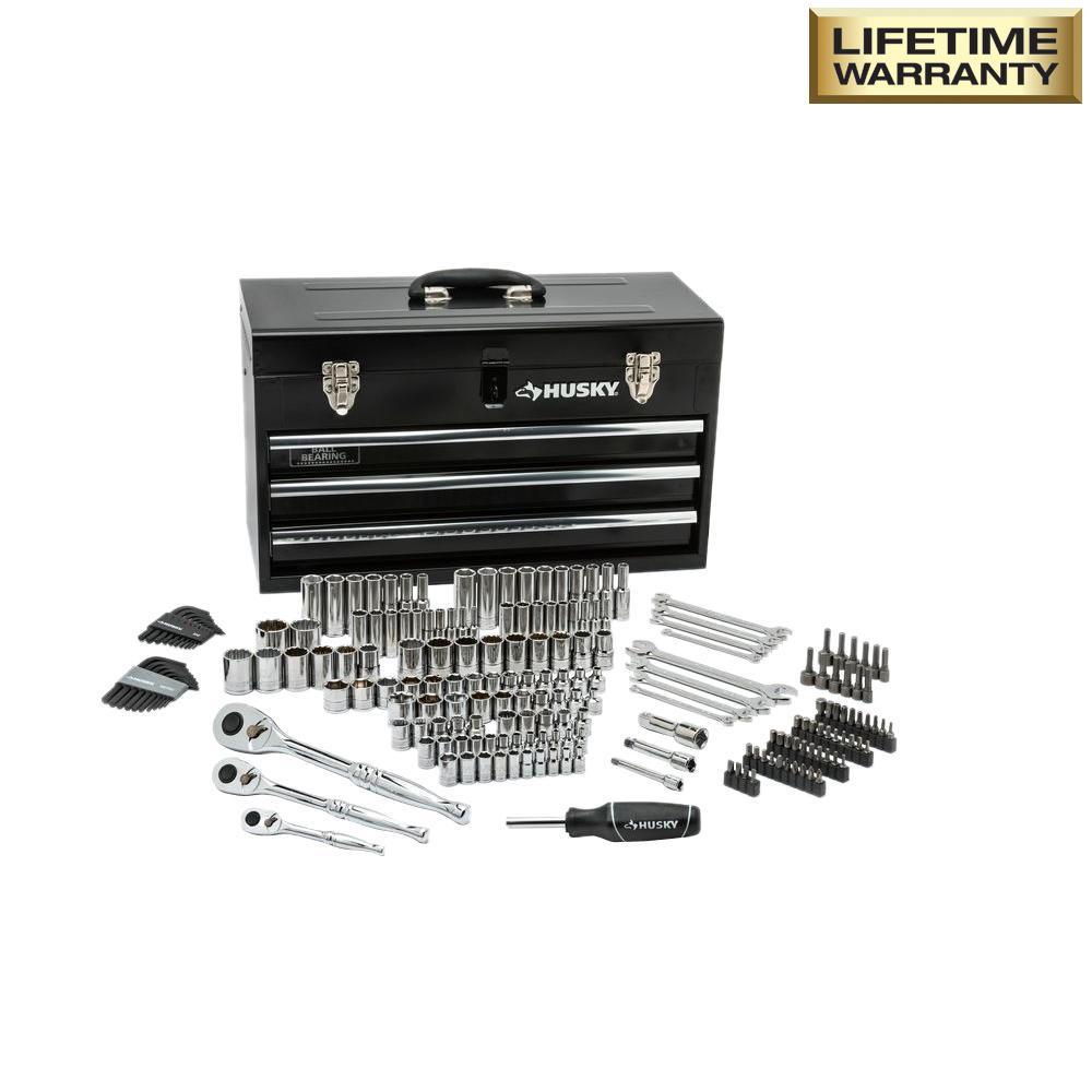 Husky Mechanics Tool Set in Metal Box (200-Piece) $99 thru 6-14-2018